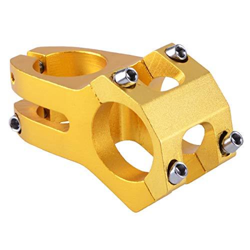 Azarxis Attacco Manubrio MTB 31,8 mm, Adattatore per Attacco Manubrio Bici da Corsa, Gambo Attacco Manubrio per MTB Bici da Strada Città (Oro)