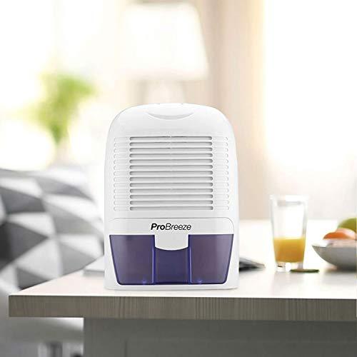 Pro Breeze Mini Déshumidificateur d'Air Compact 1500 ml pour l'Humidité et les Moisissures à la Maison, pour Cuisine, Chambre, Caravane, Bureau, Garage