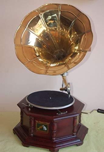 mobildoc GRAMMOFONO Ottagonale A Tromba con Disco E PUNTINE.