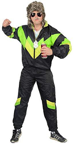 jaren '80 trainingspak kostuum voor mannen - zwart groen geel - maat S-XXXXL - Sweatpants Assi, maat:XL
