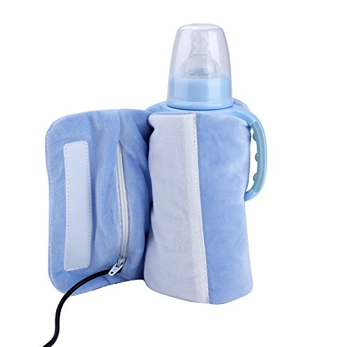 USB Babyflaschenwärmer Tasche Baby Warmhaltetaschen Milch Wasser Kaffee Tee Heizung Wärmer (Blau)