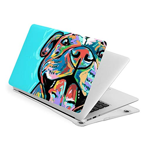 Pitbull Art Waterproof Pv Laptop Protector, Hard Shell Case with Bottom Cover Compatible with MacBook New Air13