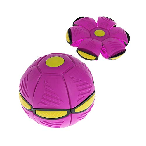Nlne Frisbee Verformung UFO Ball Mini Drohne UFO Für Eltern-Kind Strand Spielzeug,Rosa