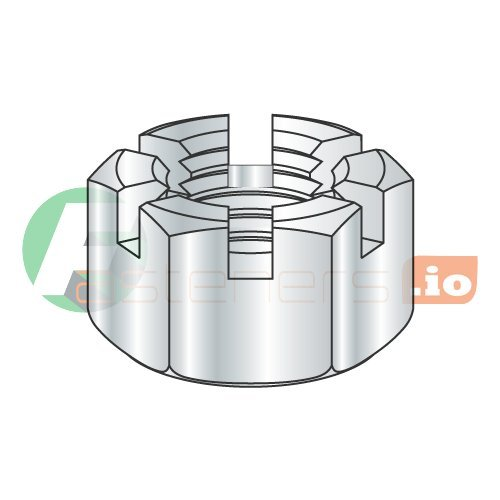 9 16-12 Slotted Hex Nuts Zinc 250 Steel pcs Free Shipping Cheap Max 72% OFF Bargain Gift Carton: