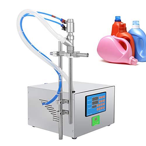 Hanchen Máquina de Llenado de Líquidos Viscosos 17L/min Llenadora de Botellas Neumática Llenadora de Líquidos Industrial para Aceite Miel Gel Champú (Con boquilla de 18mm de diámetro)