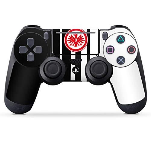 DeinDesign Skin kompatibel mit Sony Playstation 4 PS4 Slim Controller Folie Sticker Offizielles Lizenzprodukt Eintracht Frankfurt Streifen
