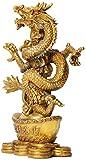 Equipo vivo Estatuas y estatuillas Decoración Artesanía de cobre puro Escultura de estatua de dragón del zodiaco Decoración de animales Suerte creativa Fortuna Riqueza Decoración del hogar Escultur