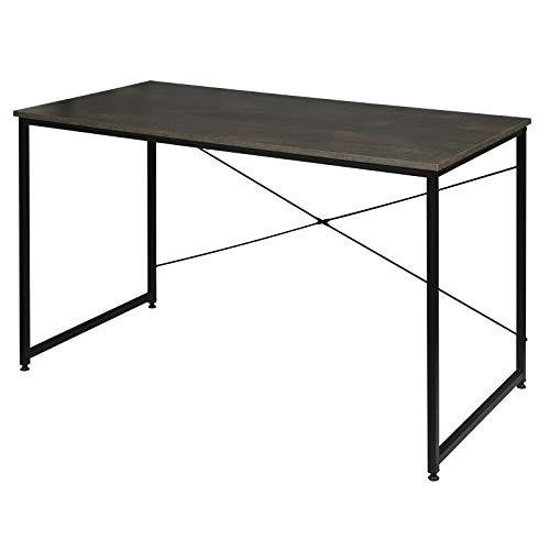 WOLTU TSB04srs Schreibtisch Computertisch Büromöbel PC Tisch Bürotisch Arbeitstisch aus Holz und Stahl, mit Ablage, ca,120x60x70 cm Schwarz+Rostfarbe