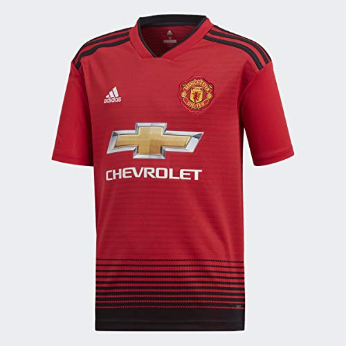 adidas World Cup Soccer Manchester United Soccer Youth Manchester United FC Home Jersey, Medium, Real Red