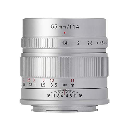 【国内正規品】七工匠 7artisans 単焦点レンズ 55mm F1.4 (フジフイルムXマウント, シルバー) 5514FXS