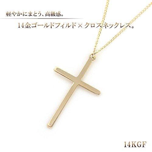 『Barzaz 14金ゴールドフィルド ネックレス クロス ゴールド ロザリオ 十字架』の2枚目の画像