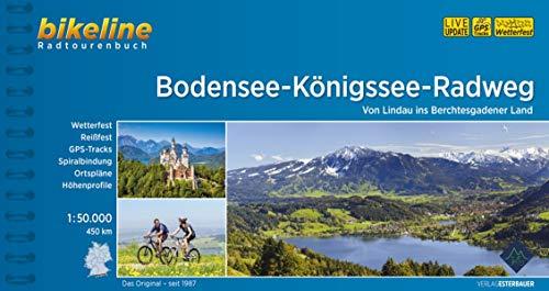 Bodensee-Königssee-Radweg: Von Lindau ins Berchtesgadener Land. 450 km, 1:50.000, wetterfest/reißfest, GPS-Tracks Download, LiveUpdate (Bikeline Radtourenbücher)