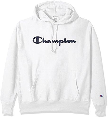 Champion Life Herren Reverse Weave Script Pullover Hoodie - Weiß - XXX-Large