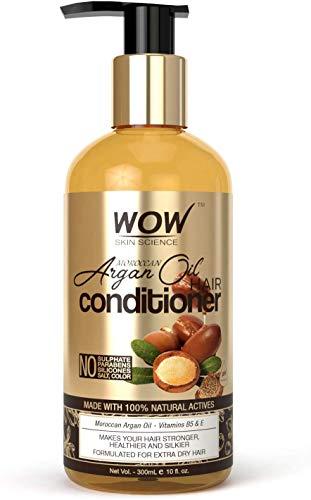 Glamorous Hub WOW Skin Science Acondicionador de aceite de argán marroquí sin sulfatos Parabenos Siliconas Sal y color 300 ml (el embalaje puede variar)
