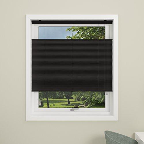 debel Touch Split Store plissé, Noir, 80 cm x 160 cm