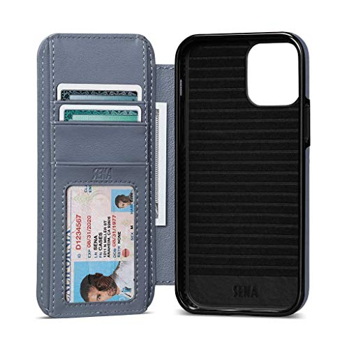 Wallet Book Case, Leather Book Style Folio Wallet with Kickstand & Card Slots for iPhone 12 (Lavender, iPhone 12 Pro Max)
