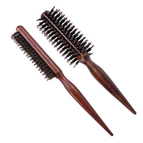 Faletony 2er Set Magic Volumer Wildschweinborsten Bürste Haarbürste Toupierbürste für Hair Drying, Styling, Lockig