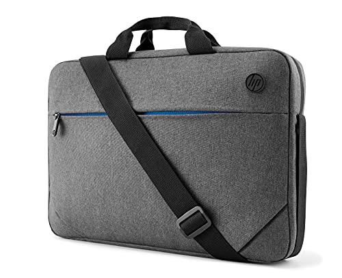 HP - PC Prelude Borsa per Notebook fino a 15.6 , fissaggio per trolley, tracolla imbottita, tessuto impermeabile, Grigio