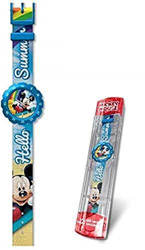 Mickey Mouse Reloj analogico flik Kids Pulsera, Adultos Unisex, Multicolor, Unico