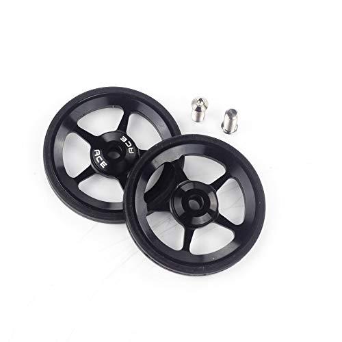 Aceoffix 2 pz ACE lega Easy Wheels Easywheel & titanio bulloni per bicicletta pieghevole Brompton Dino Kiddo (nero