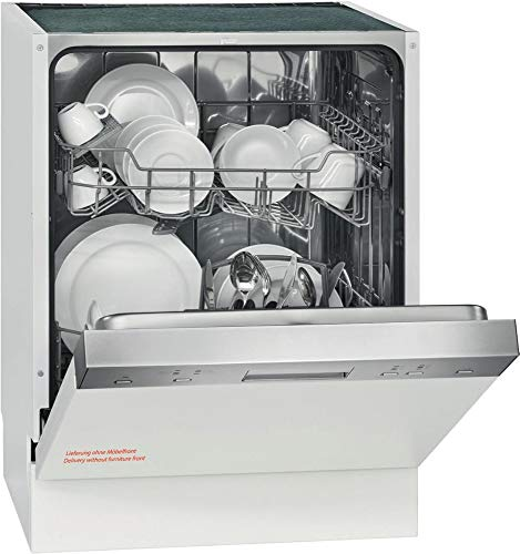 Bomann GSPE 890 Einbau-Geschirrspüler / teilintegriert / 60 cm / EEK A++ / 12 MGD/ 6 Programme / 258 kWh/Jahr / Bedienblende Edelstahl