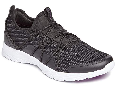 Vionic Damen Brisk Jada Schlupfschuhe – Damen Active Sneakers mit verdeckter orthopädischer Unterstützung des Fußgewölbes, Schwarz (schwarz), 36 EU