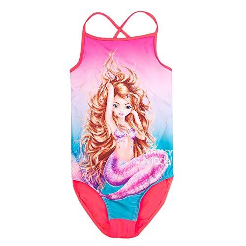 Top Model Mädchen Badeanzug, pink, Größe 140, 10 Jahre