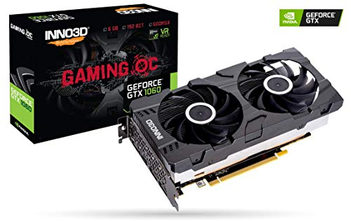 INNO3D GEFORCE GTX 1060 6GB GDDR5X Gaming OC Graphic Card - N106P-DSDN-N6GOX