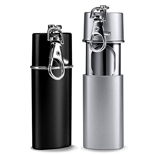Yosemy - 2 posacenere tascabile, antiodore, da viaggio, per viaggiare, colore: nero e...