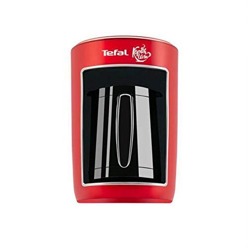 Bidema Tefal Espuma turca Máquina de café Turco Máquina de café Máquina de café Interruptor de botón Aspecto Exquisito Profesional Orientación (Color : Red, Plug Type : 200W)