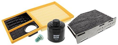 Mapco 68830 Inspektionspaket Ölfilter Luftfilter Innenraumfilter Ölablaßschraube