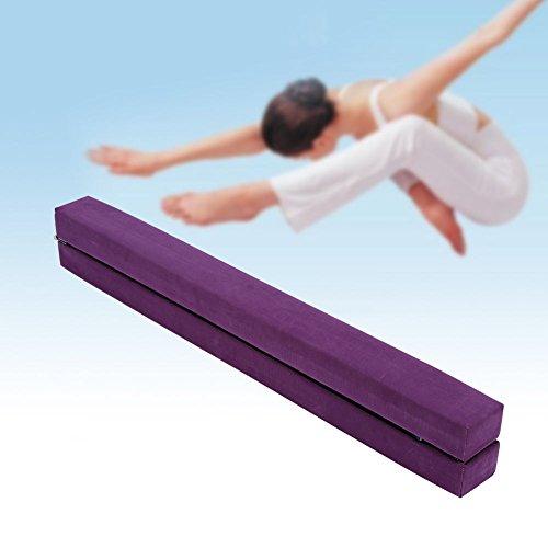 2,2M Gymnastik Zusammenfaltbar Schwebebalken Strapazierfähige 3 Farben (Lila)