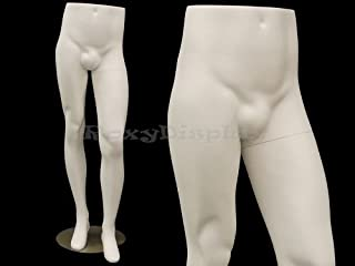 (MD-ML9) ROXY DISPLAY Male Mannequin Legs With nice hips. Fiberglass material. Steel base included.