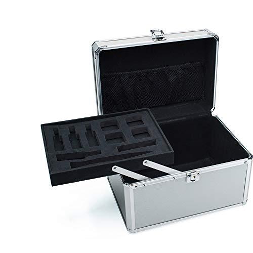 Boîte à Bijoux Sac Cosmétique Multi-Fonction Boîte à Outils Professionnelle Multifonctions Portable Portable étanche étanche Portable Argent