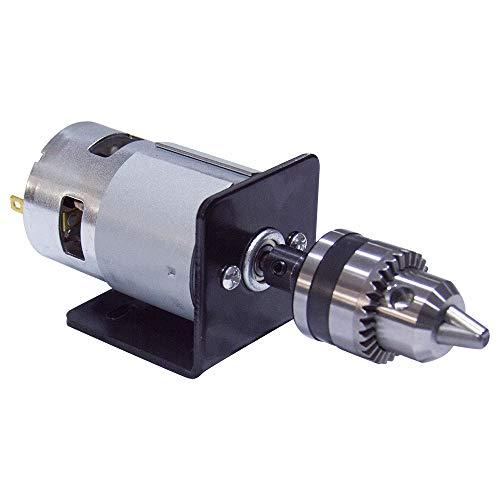 BEMONOC 775 DC Motor 12V 12000RPM Lathe Press With Miniature Hand Drill Chuck & Bracket High Speed 775 DC Motor For DIY Assembly