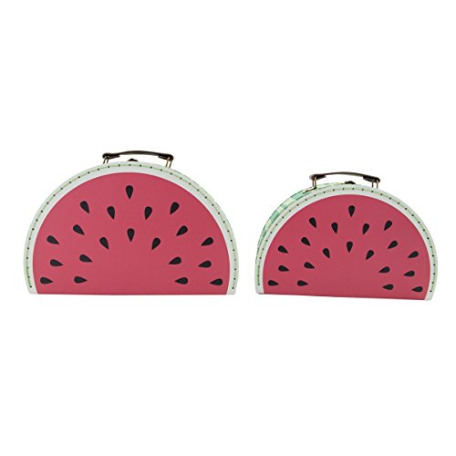 Koffer kofferset watermeloen set van 2 groen rood