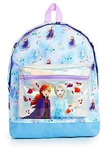 Disney Frozen 2 Mochila Escolar Infantil Para Niñas Adolescentes, Princesas Disney Anna Elsa, Mochilas Escolares Juveniles Bolsillo Delantero Confeti Brillante, Regalos Para Niños Colegio Viaje