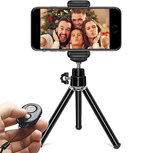 MQIQI Selfie Stick Trípode Extensible A 9.8 Pulgadas Cámara Teléfono Trípode Aleación De Aluminio con Control Remoto Bluetooth Y Soporte para Teléfono Celular para iPhone Android Cámara Deportiva