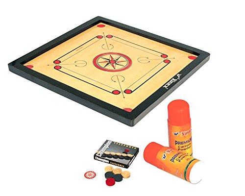 Vinex Carrom Board Set - Super (Medium Size, with 1.5' Border)