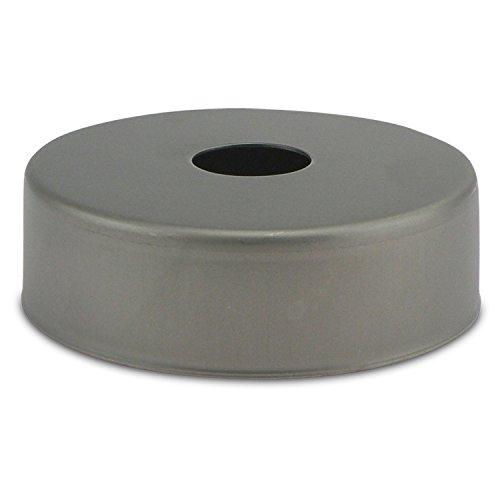 Großer Lampen Baldachin in Metall grau Ø 10 × H 3,1 cm - Abdeckung für mehrere Hängelampen Öffnung - Ø 2,6 cm