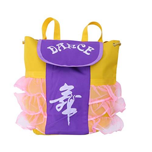 Tennycoco rugzak voor meisjes, ballet, schooltas voor ballerina, dansere, voor kinderen, violet en roze