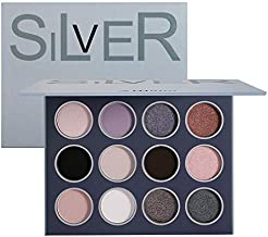 Natural Neutral Smokey Matte Shimmer Eyeshadow Makeup Palette, Afflano Pigment and Blending Earth Pallet Eye Shadow 12 Colors, From Beige Apricot to Soot and Brown Black Tone, for Enigmatic Eye Makeup