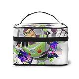 Toy Story Buzz Lightyear Astronaut - Bolsa de cosméticos para mujer con cremallera multifunción (22,8 x 17 x 15,7 cm), portátil, alta capacidad