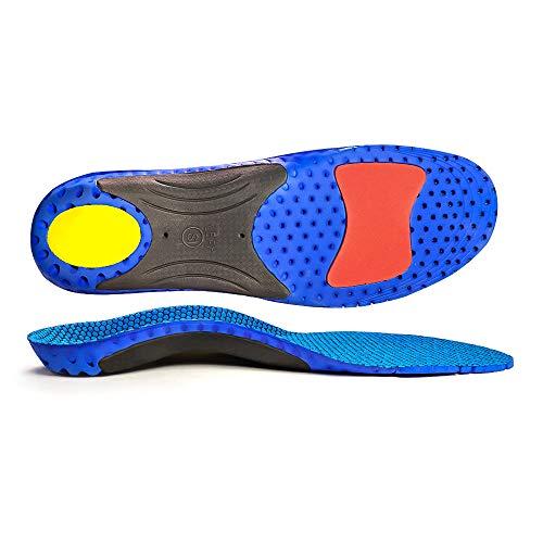 CosyInSofa Inserti ortotici a tutta lunghezza con plantari plantari Solette per scarpe sportive Comfort plantari plantari plantari per piedi piatti, plantari funzionali (M:40/44EU, blu)