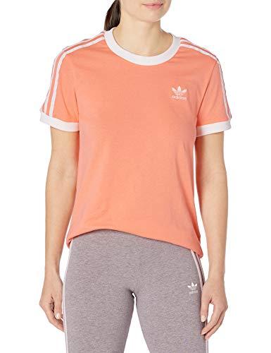 adidas Originals - Camiseta de manga corta para mujer - Naranja -...