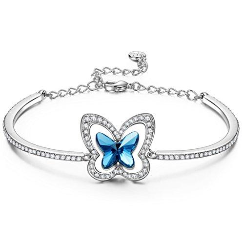 Susan Y Navidad Mariposa Pulsera Mujer, Psique Mariposa Mujer Joyería, Cristales de...