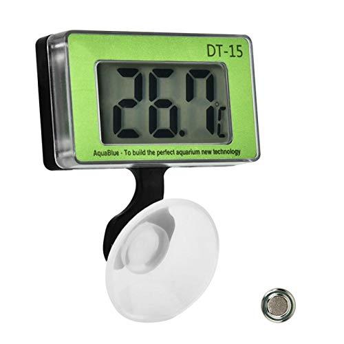 Termómetro digital LCD para acuario, pantalla digital grande Termómetro para pecera de acuario Herramienta de medición de temperatura Termómetro de temperatura para terrario de agua para pecera