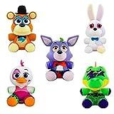 yskcsry 5 Unids / Set Cinco Noches En El Color De Freddy Conejo Fantasma Foxy Animal Muñeco De Peluche Niños Regalos De Peluche Juguetes 20Cm