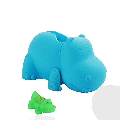 SAIBANGZI Nilpferd Badewanne Wasserhahn Abdeckung für Baby Schutzhülle Baby Sicherung Sicherheit Wasserhahn Badewanne Spielzeug für Kinder wasserhahn badewanne