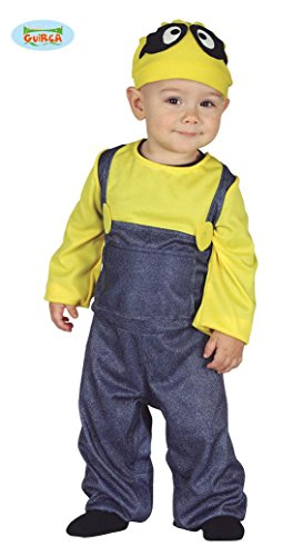 Guirca - Minions Kostüm für Neugeborene 6/12 Monate, blau und gelb, 6-12, 87624